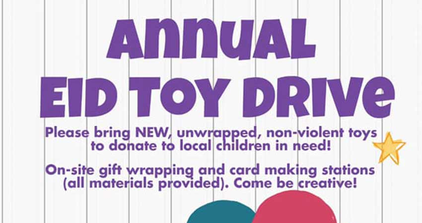 Manitoba Islamic Association Annual Eid Toy Drive
