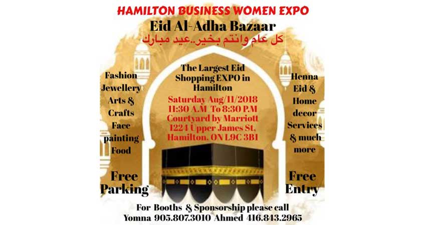 Hamilton Business Women Expo Eid al Adha Bazaar