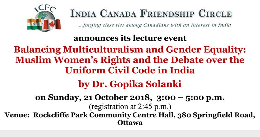 Balancing Multiculturalism and Gender Equality: Muslim Women's Rights and the Debate over the Uniform Civil Code in India
