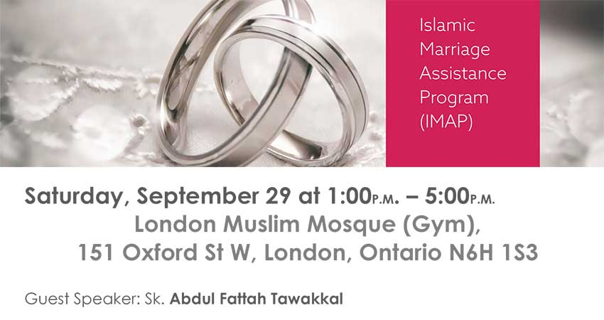 Islamic Marriage Assistance Program (IMAP) at London Muslim Mosque
