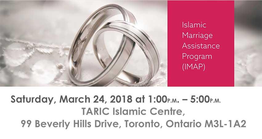 Islamic Marriage Assistance Program (IMAP) at TARIC Islamic Centre