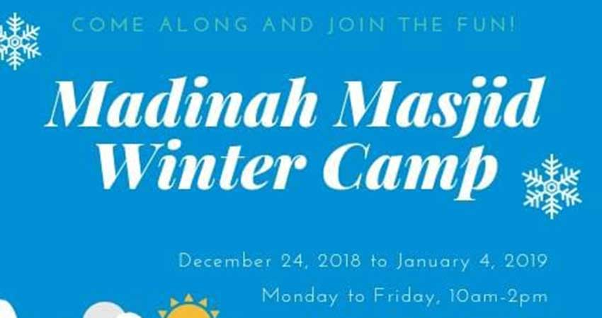Madinah Masjid Winter Camp