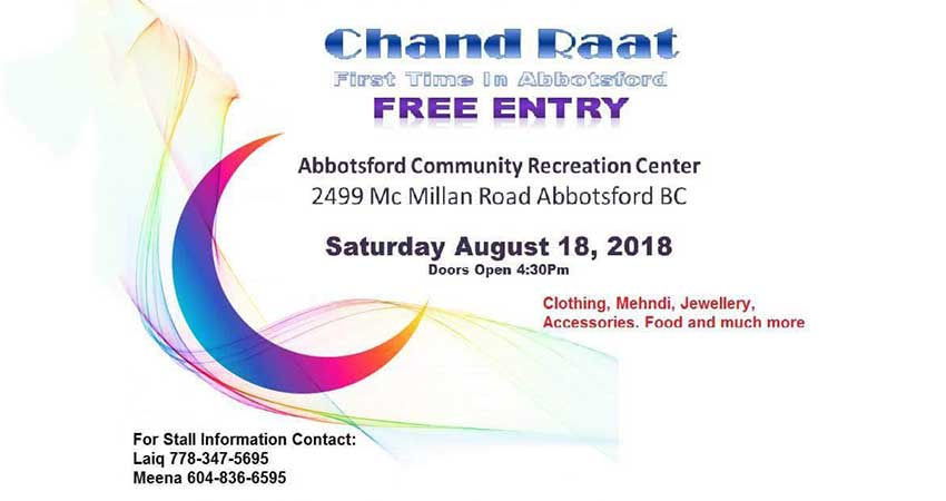Chand Raat in Abbotsford