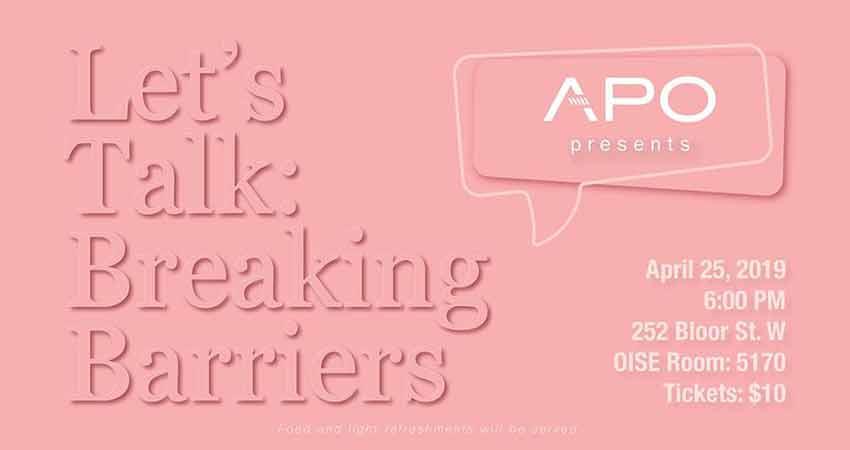 Afghan Professionals of Ontario Let's Talk Breaking Barriers