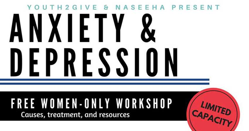 Youth2Give Anxiety & Depression: Women-Only Workshop