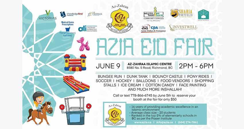 Az Zahraa Islamic School AZIA Eid Fair