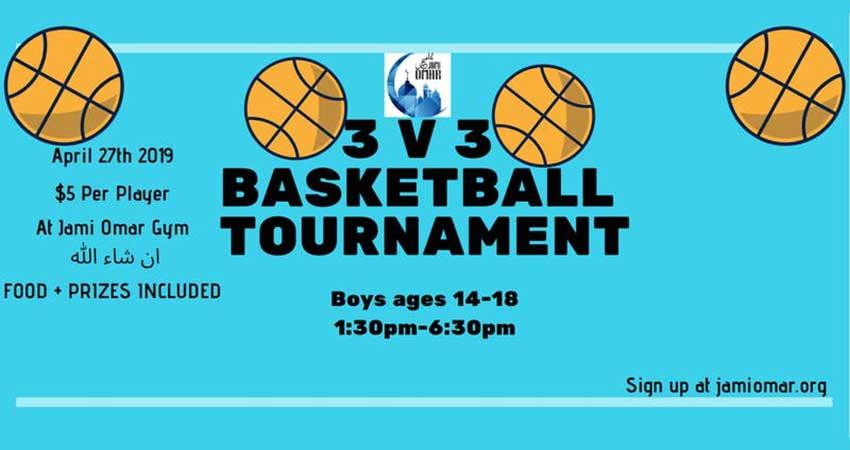 Jami Omar 3 on 3 Boys Basketball Tournament