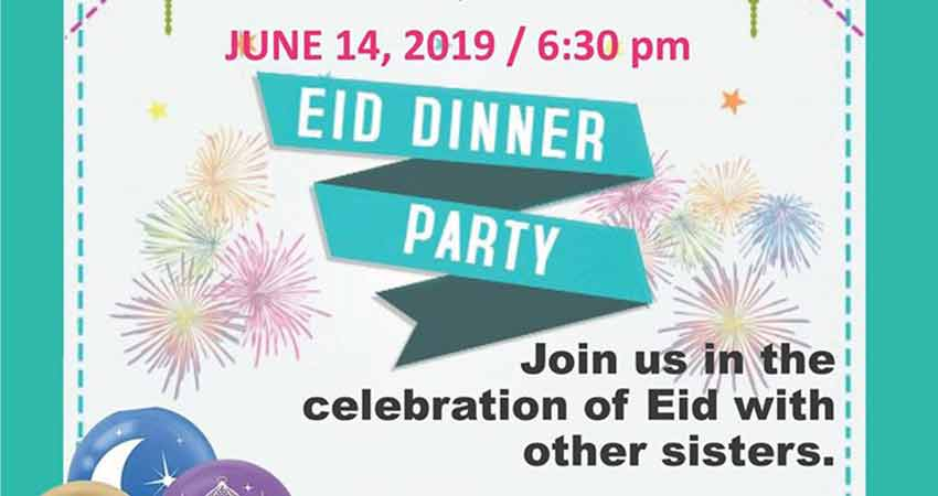 The BC Muslim Association Eid Dinner Party Sisters Only