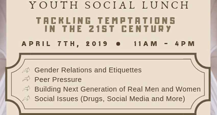Be Inspired - Youth Social Lunch with Shaykh Musleh Khan