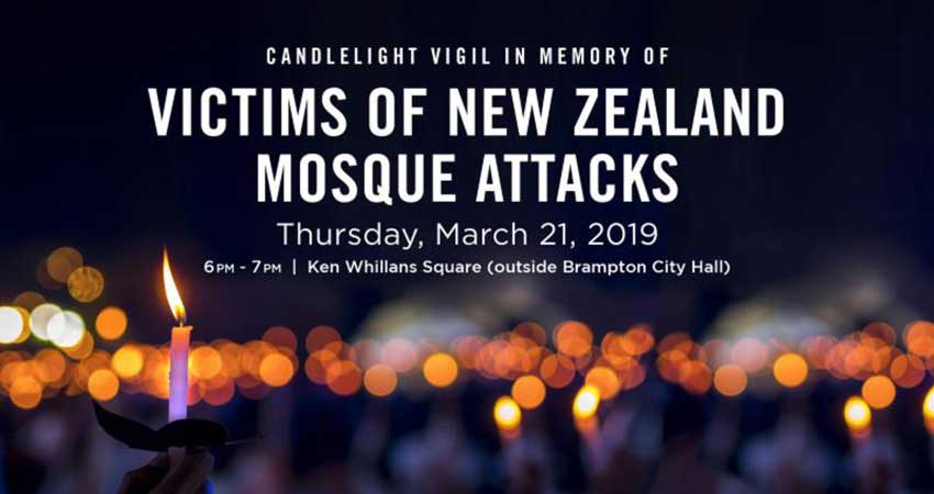 Candlelight Vigil In Memory of the Victims of the New Zealand Mosque Attack