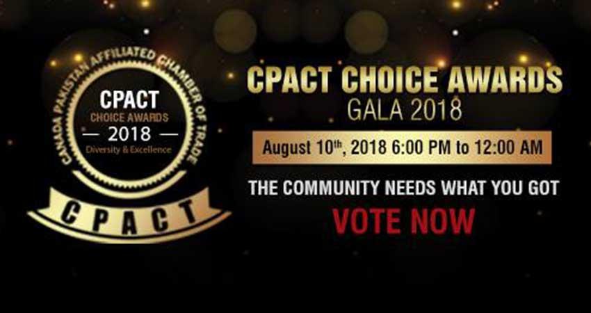 Canada Pakistan Affiliated Chamber of Trade Choice Awards Gala 2018
