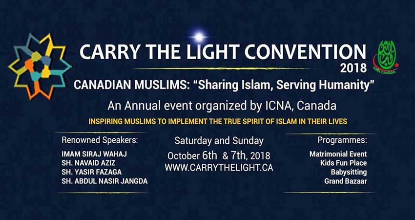 ICNA Canada Carry The Light Convention 2018