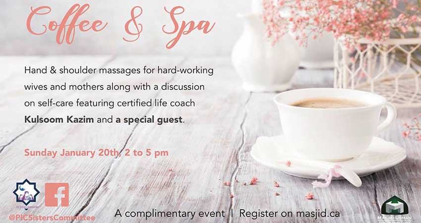 Pickering Islamic Centre Sisters Committee Coffee and Spa with Kulsoom Kazim