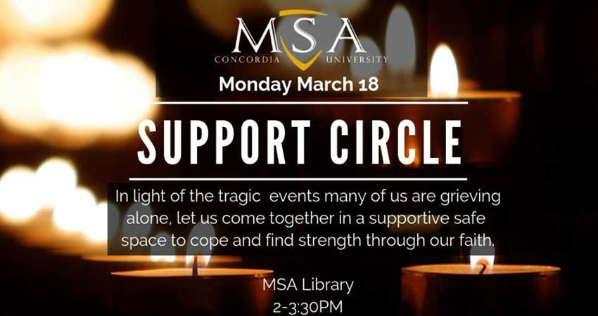 MSA Concordia Support Circle In Response to the New Zealand Mosque Attack