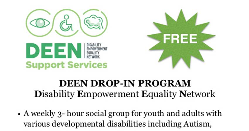 DEEN Support Services Drop In for Youth and Adults with Disabilities