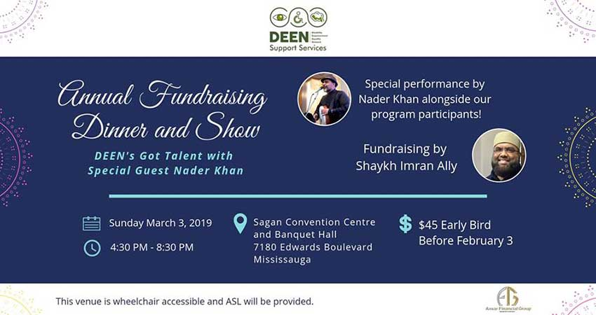 DEEN Support Services Annual Fundraising Dinner and Show