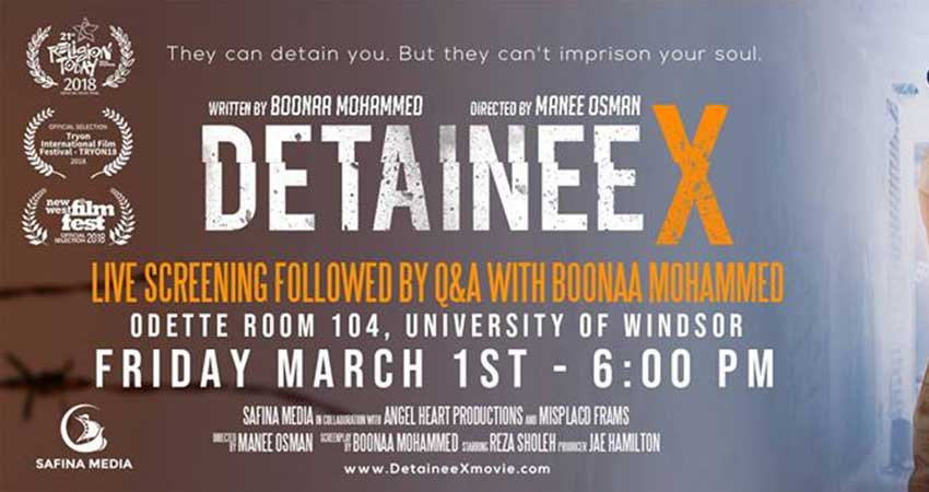 Detainee X Film Screening with Boonaa Mohammed