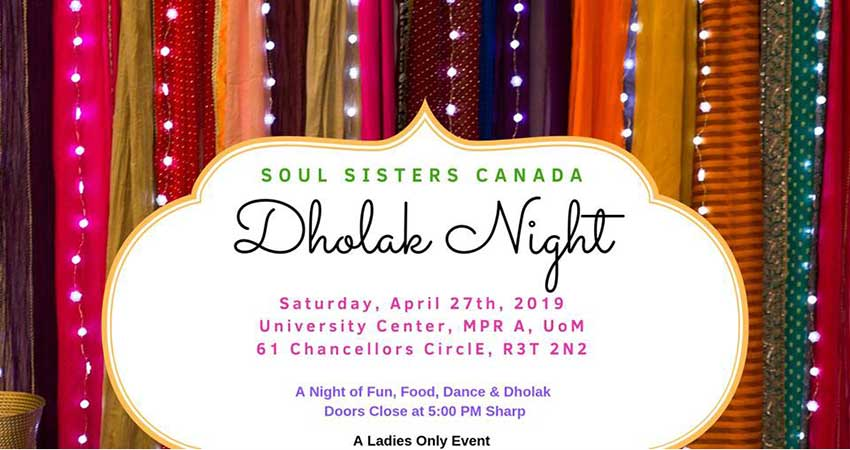 Soul Sisters Canada Winnipeg Dholak Night