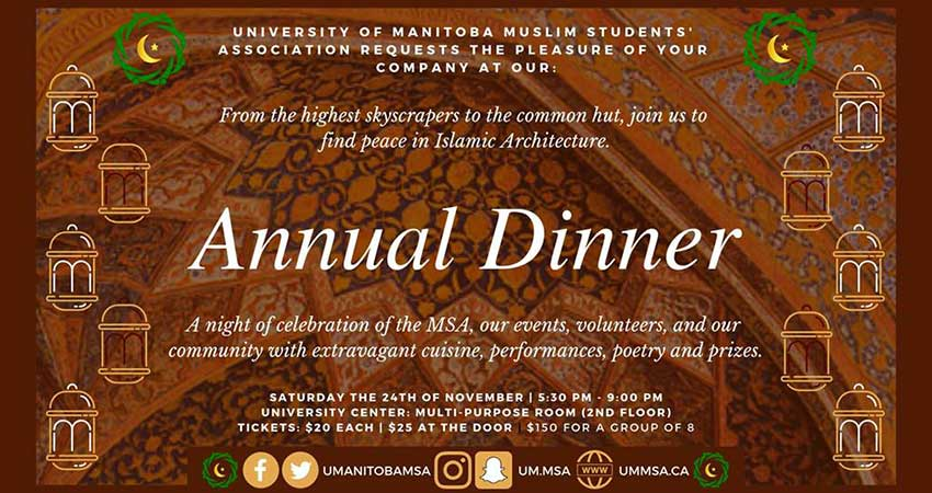 Muslim Student Association - University of Manitoba Annual Dinner 2018