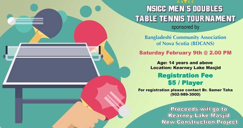 Kearney Lake Masjid Men's Doubles Table Tennis Tournament