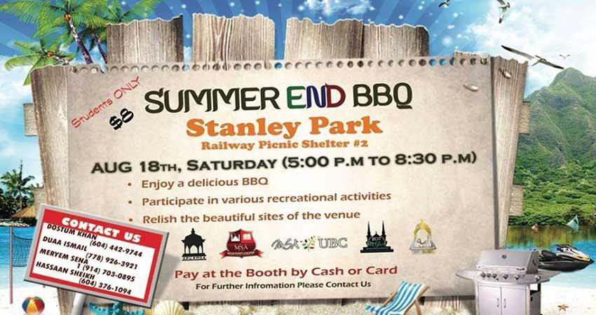 Muslim Student Association Summer End Mega BBQ