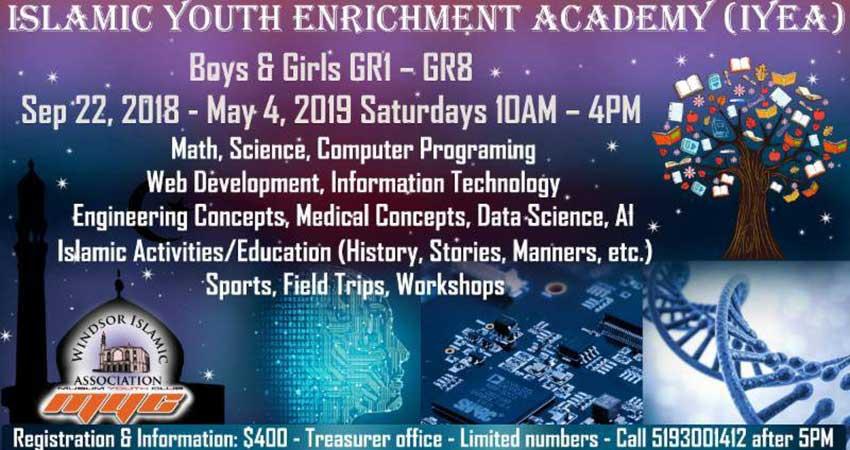 Windsor Islamic Association  Islamic Youth Enrichment Academy Registration