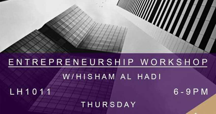 Wilfrid Laurier University Muslim Students' Association Entrepreneurship Workshop