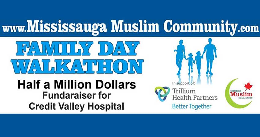 Family Day Walkathon 2019 organized by Mississauga Muslim Community