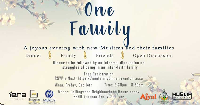 One Family - Dinner for New Muslims and Their Families