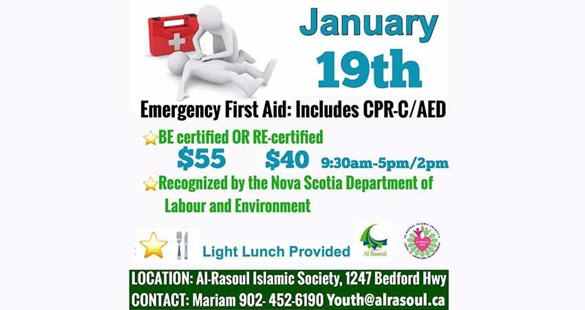 Al Rasoul Islamic Society Emergency First Aid Course