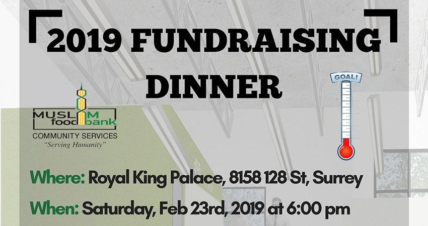 Muslim Food Bank Annual Fundraising Dinner 2019