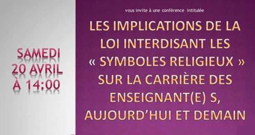 Forum Musulman Canadien Les implications de la loi interdisant les «symboles religieux»