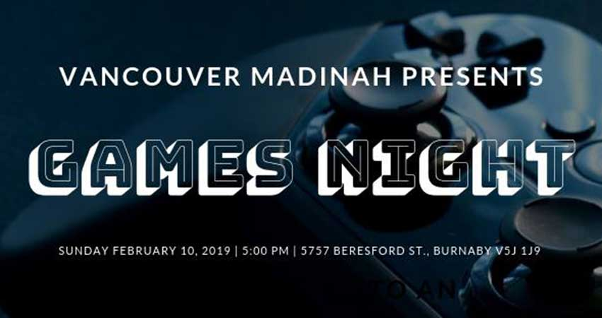Vancouver Madinah 2019 Games Night