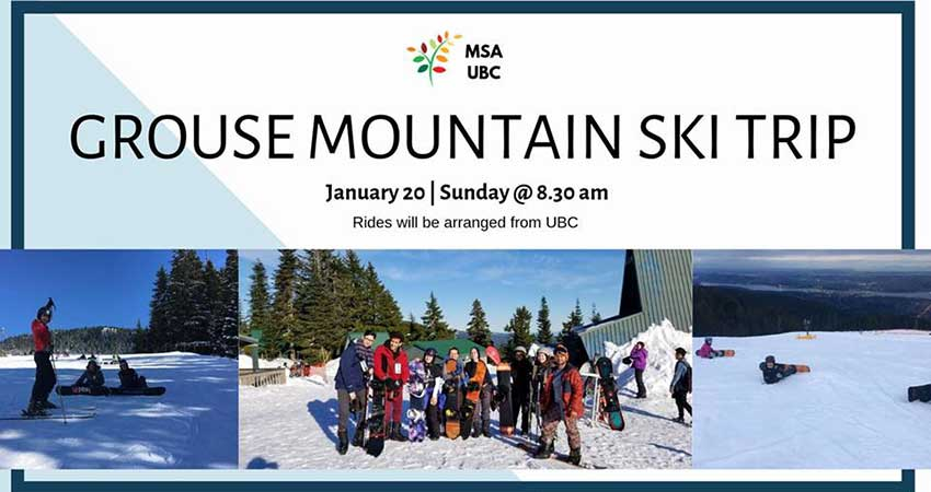 MSA UBC Ski and Board Trip