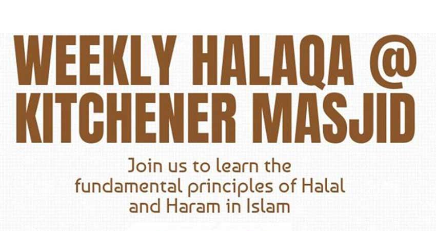 Kitchener Masjid Weekly Halaqah