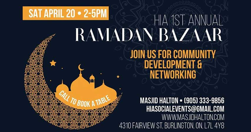 Halton Islamic Association Ramadan Bazaar