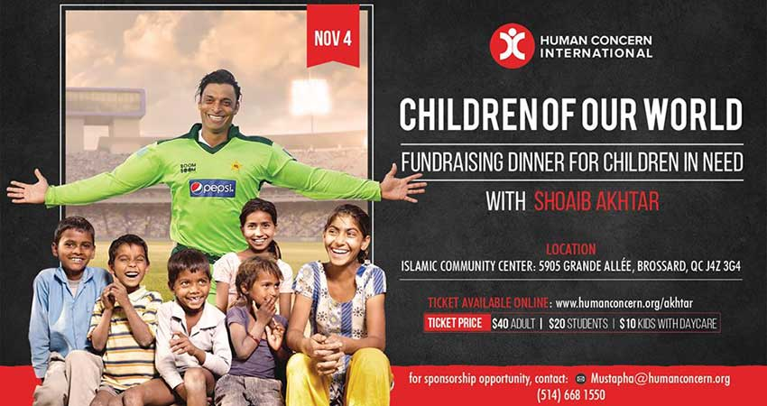 Human Concern International Children of our World - Charity Tour with Shoaib Akhtar
