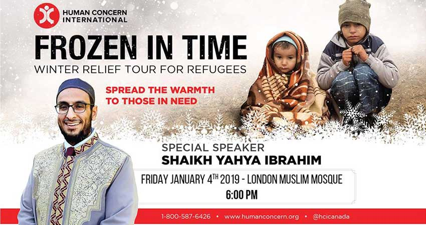 Human Concern International Frozen in Time with Shaikh Yahya Ibrahim - London Muslim Mosque