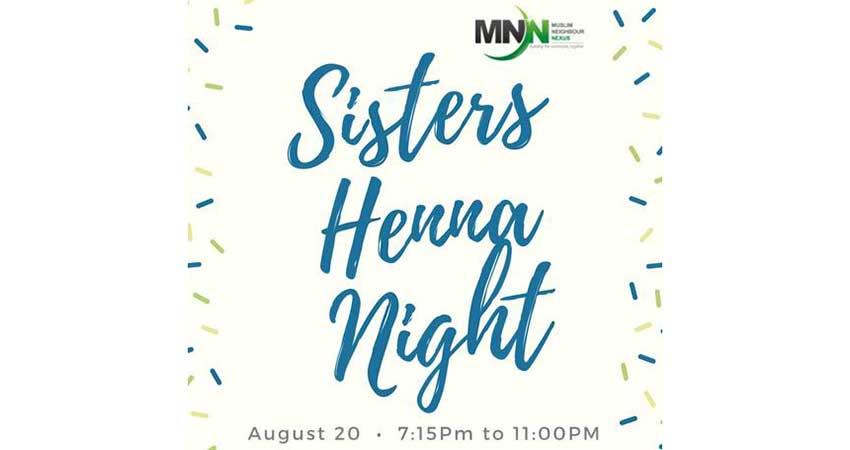 Muslim Neighbour Nexus Sisters Henna Night