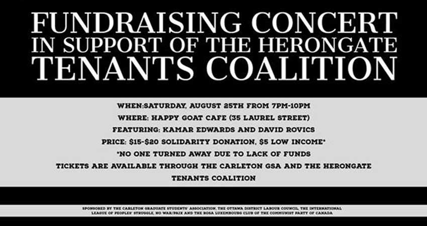 Benefit for Herongate Tenants Coalition