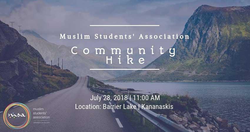 Muslim Students' Association at the University of Calgary Community Hike
