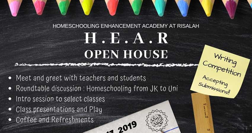 Risalah Foundation Homeschooling Enhancement Academy Open House