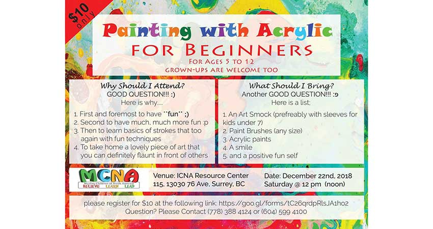 ICNA Vancouver Kids Painting Workshop