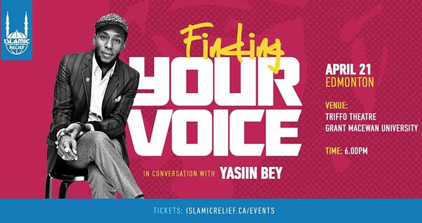 Islamic Relief Canada In Conversation with Yasiin Bey in Edmonton