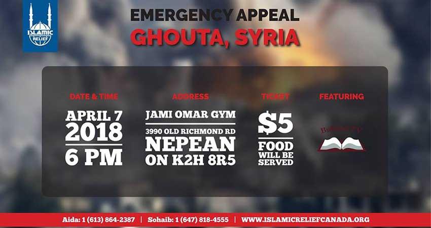 Islamic Relief Canada East Ghouta Syria Fundraiser