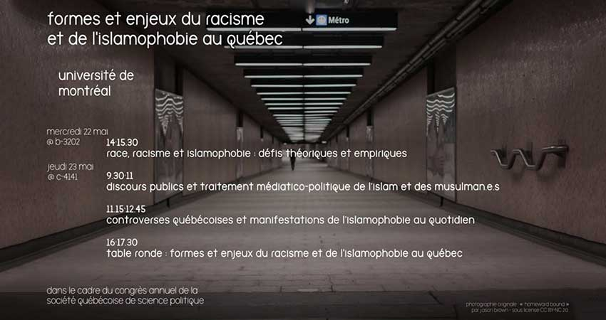 Formes et enjeux du racisme et de l'islamophobie au Québec
