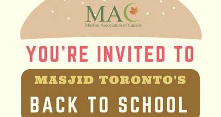 Masjid Toronto Back to School: Community BBQ