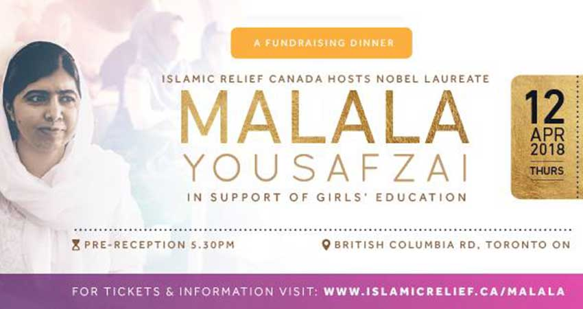 Islamic Relief Canada Malala Yousafzai: Fundraising Gala to Support Girls' Education