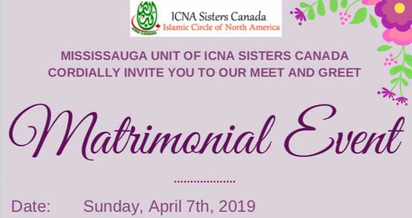 ICNA Sisters Canada Matrimonial Event