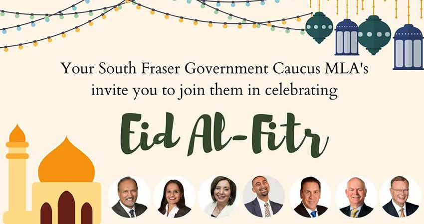 South Fraser Caucus MLA Eid al Fitr Celebration